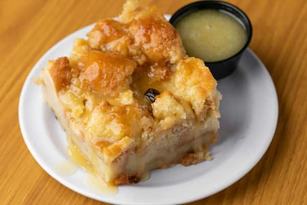 Vanilla Bean Raisin Bread Pudding