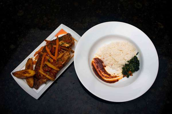 White Rice, Vegetables & Plantain