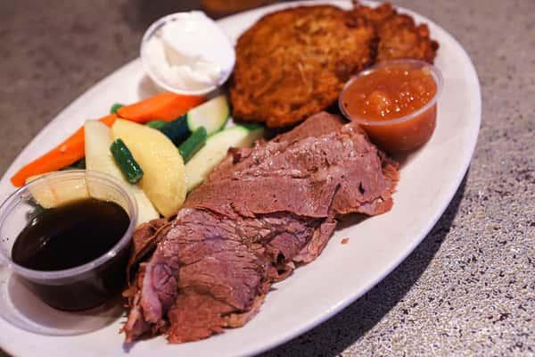 Roasted brisket of beef