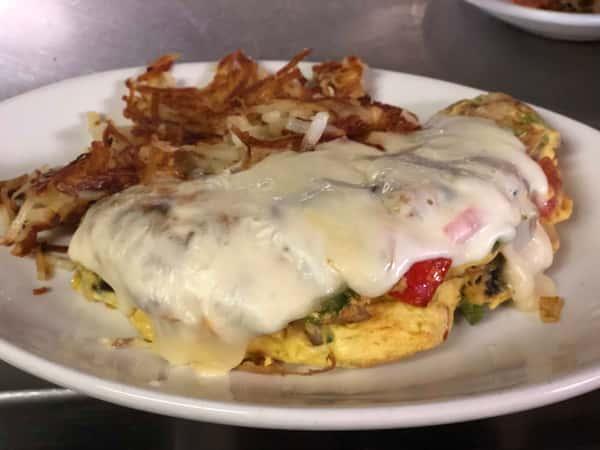 Vegetarian omelette & cheese
