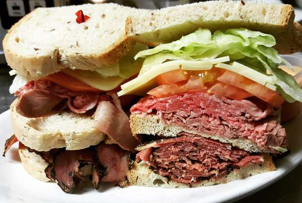 8. Pastrami, roast beef, Swiss cheese