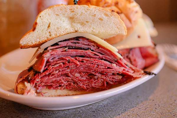 9. Corned beef, pastrami, Swiss cheese
