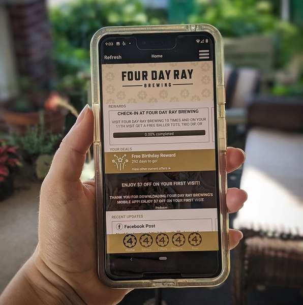 Four Day Ray phone app