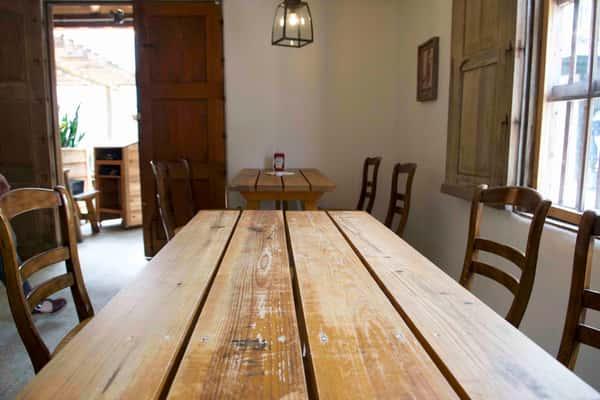 inside table