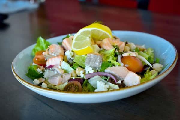 Salad - Poached Salmon Salad (420 Calories)