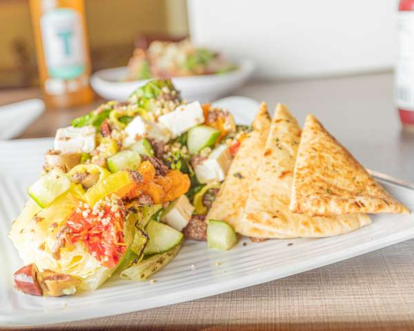 Grilled Romaine Greek Salad