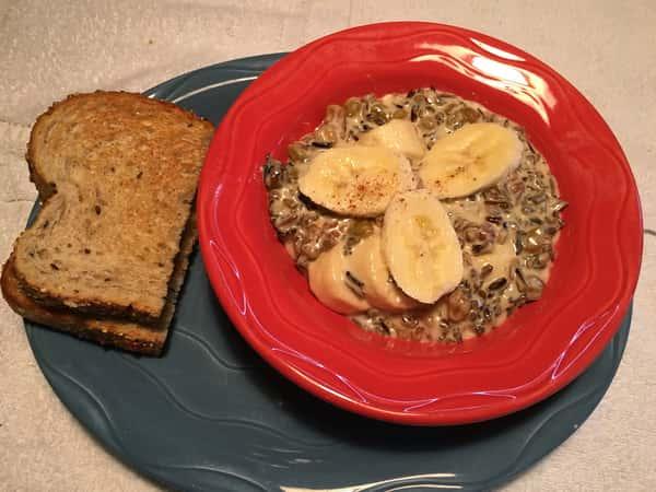 Wild Rice Banana Porridge
