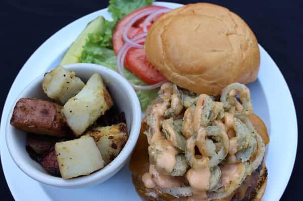 Bloomin' Jalapeno Burger