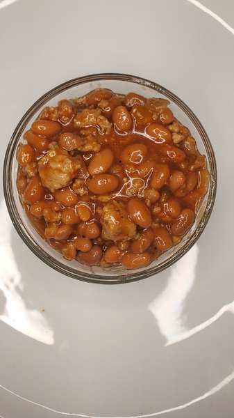 Baked Beans with Turkey Meat