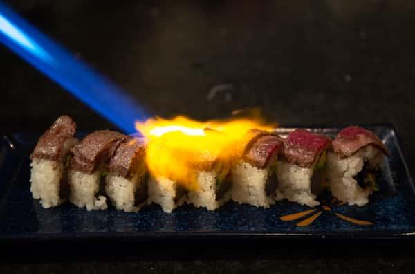 sushi flambe