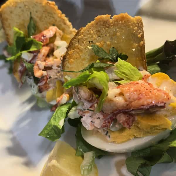 lobster roll deviled eggs