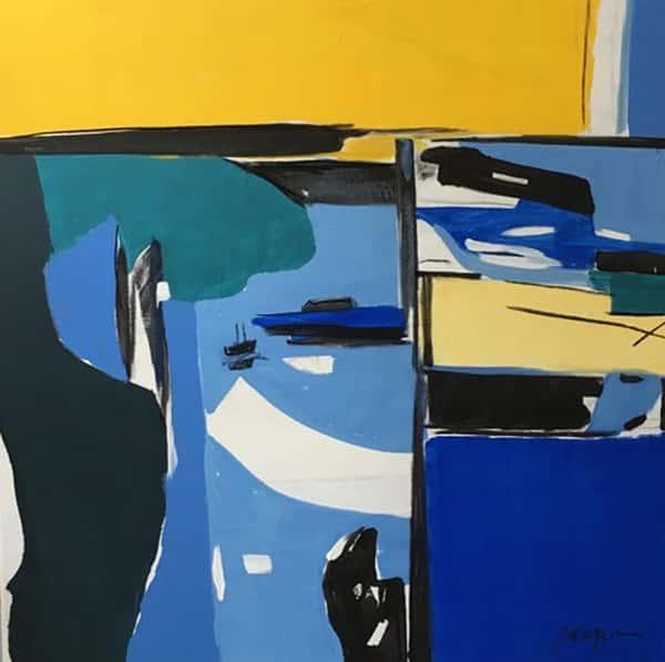 """""""Bay Shore"""" Mixed media on canvas - 36 x 36"""