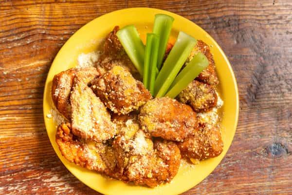 spicy garlic parm wings