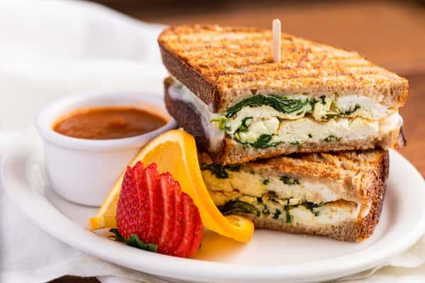 Egg White & Spinach Breakfast Panini