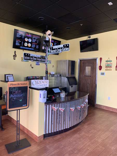 Inside counter view