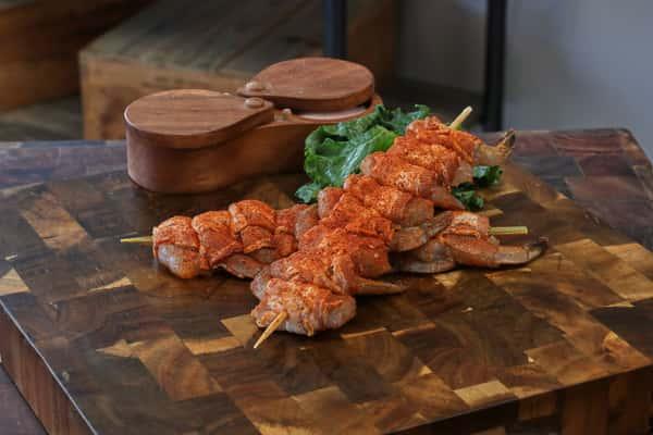 BB Cajun Bacon Wrapped Shrimp Kbob