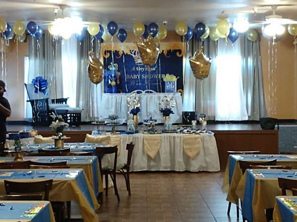 set up for baby shower