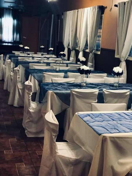 tables set for event