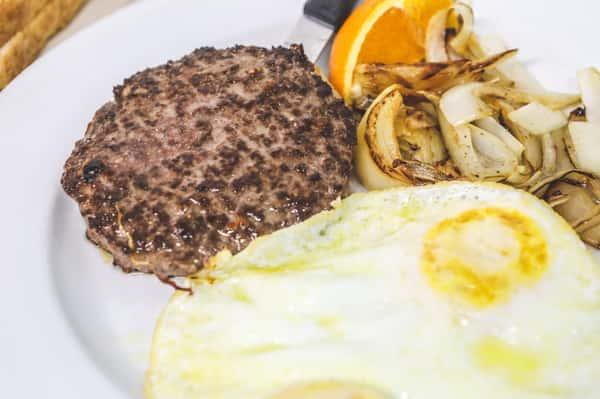 Ground Steak & Eggs
