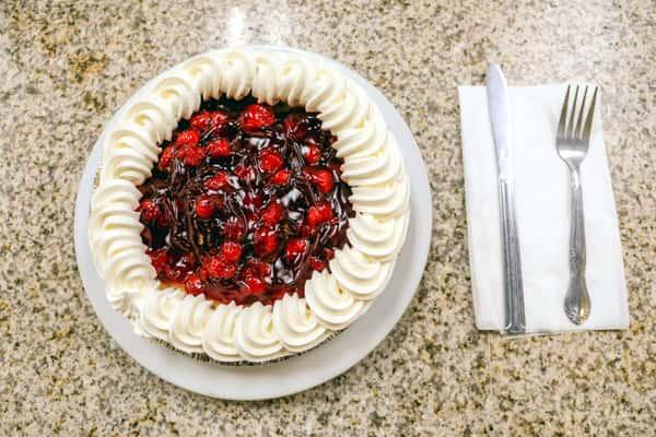 Cream cherry cheesecake