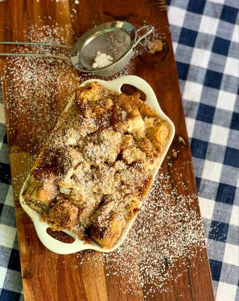 Baked Apple Cinnamon Chip French Toast