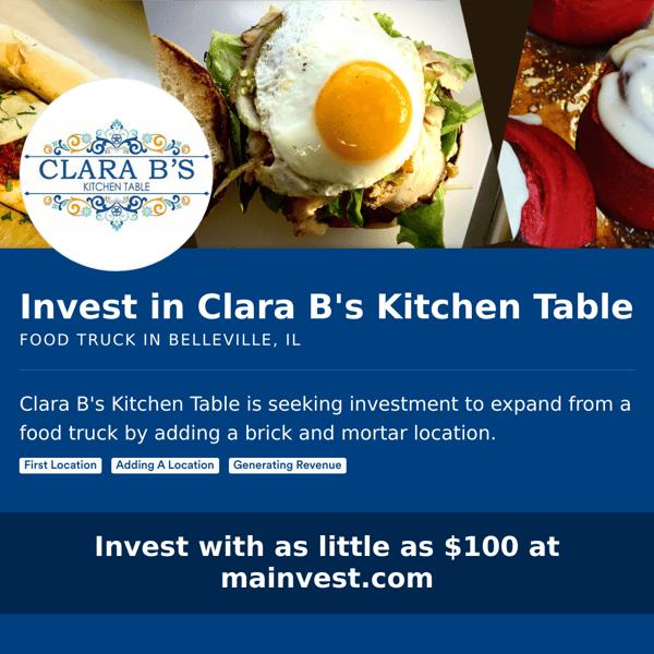 Clara B's investment flyer
