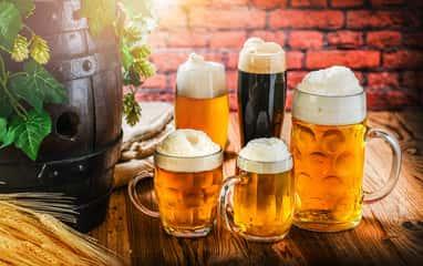 assorted beer stock photo