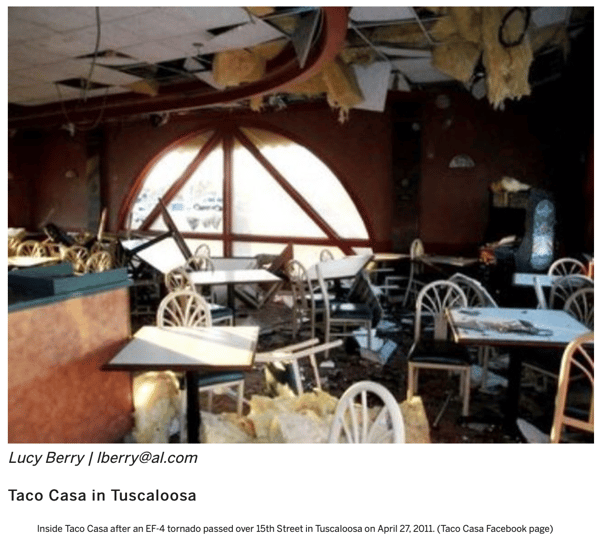 17 businesses that rebuilt after April 27, 2011 tornadoes