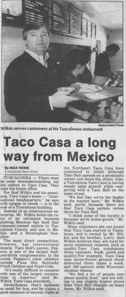 Taco Casa a Long Way from Mexico