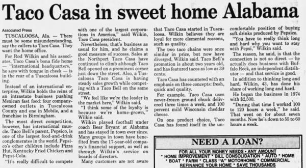 Taco Casa in sweet home Alabama