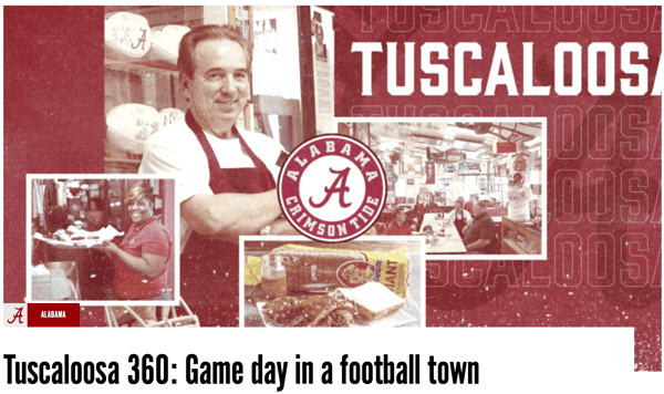 Tuscaloosa 360: Game day in a football town