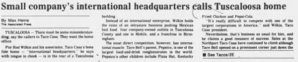 Small Company's International Headquarters calls Tuscaloosa Home