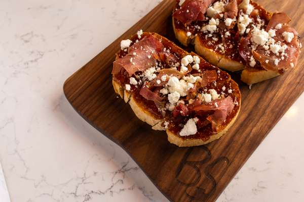 Fig Jam, Prosciutto, Goat Cheese