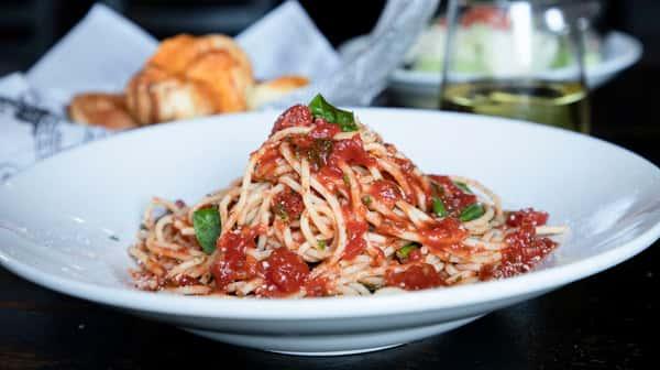 Spaghetti Tomato and Basil