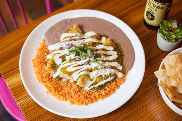 Enchiladas Verde