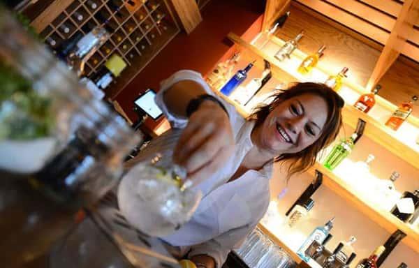cocktail serving