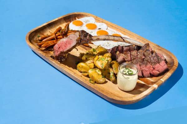 Tomahawk Steak + Eggs*
