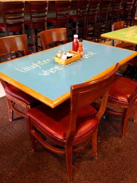 table inside
