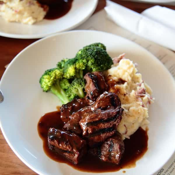 Bourbon-Marinated Steak Tips *