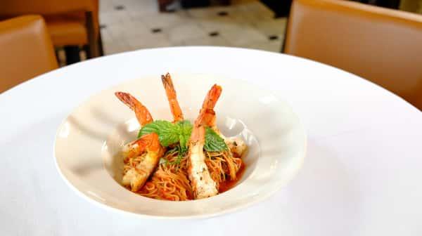 Grilled Shrimp Pomodoro