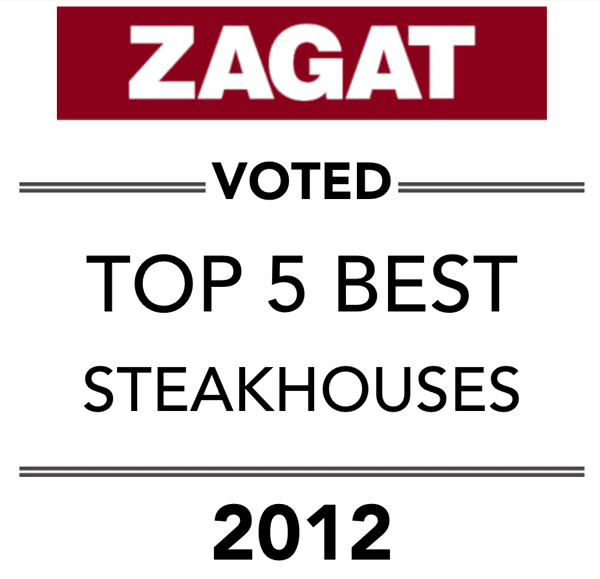 zagat - voted top 5 best steakhouses 2012