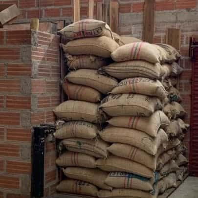 Coffee bags in origin Colombia