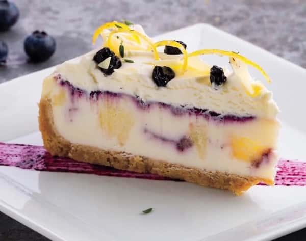 Blueberry Cobbler Cheesecake