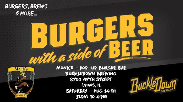 Monk's Pop-Up Burger Bar at Buckledown