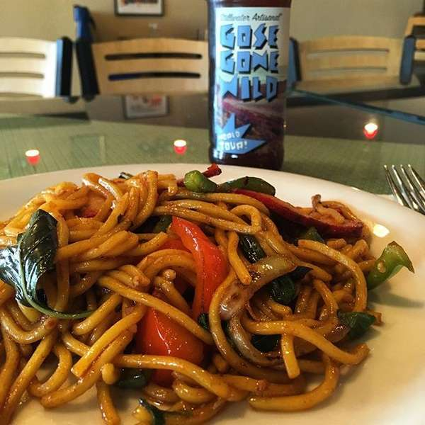 Drunken Noodles with Chow Mein at Moo Dang Thai Food Reno NV