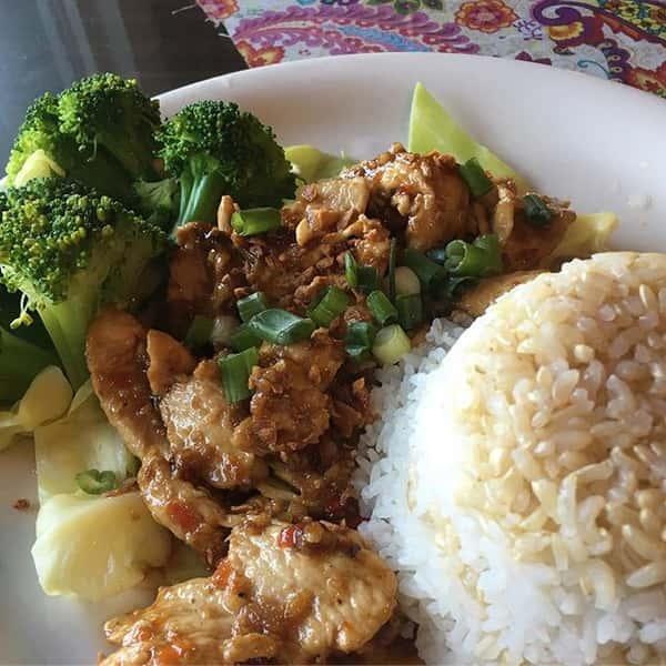 Garlic and Pepper Lunch at Moo Dang Thai Restaurant Reno NV