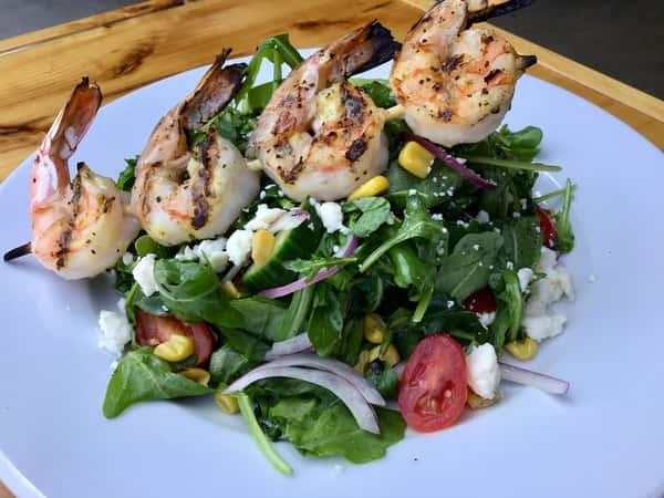 Grilled Shrimp and Arrugula Salad