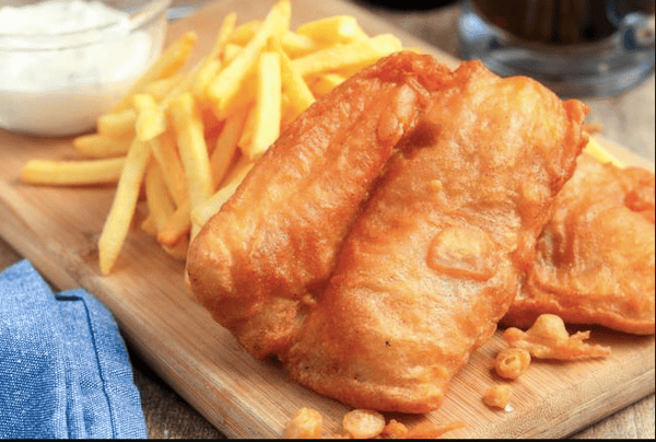 Fried fish and fries