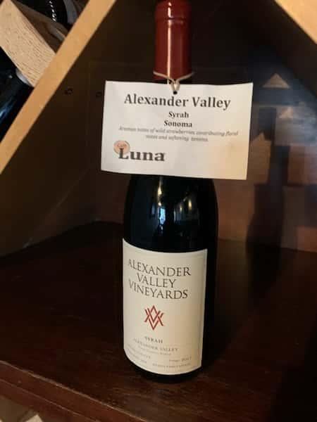 Alexander Valley Vineyards Estate, Syrah