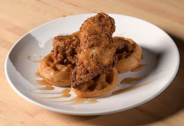 Chicken & Waffles Stack